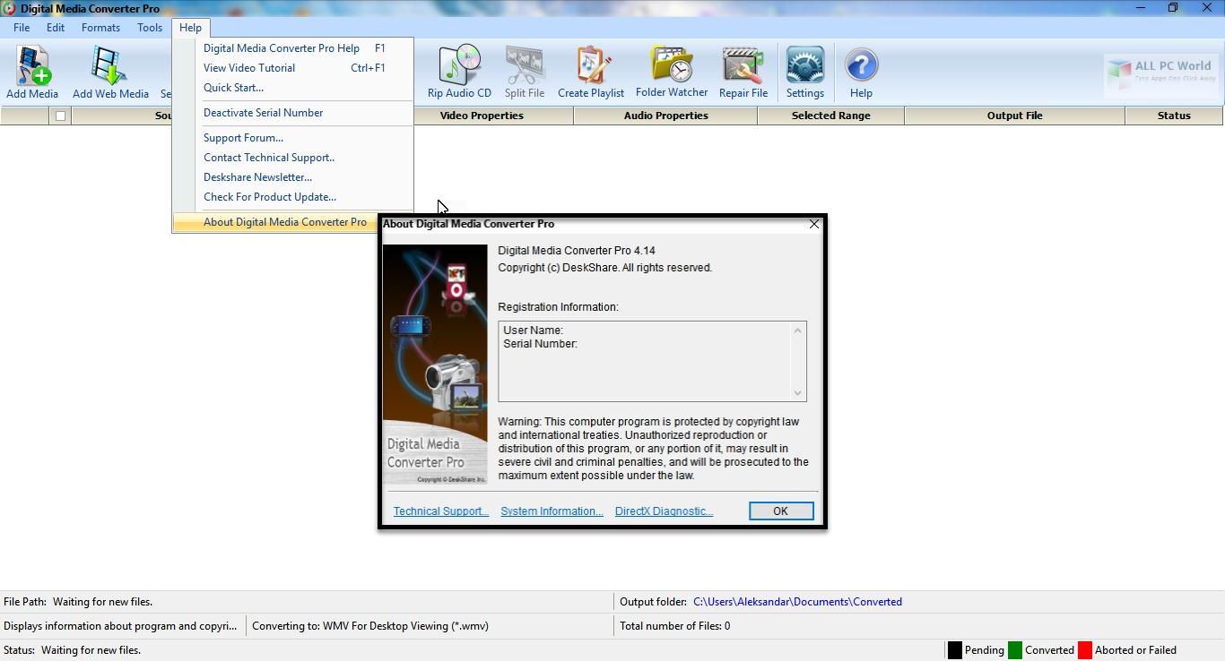 DeskShare Digital Media Converter Pro v4.16