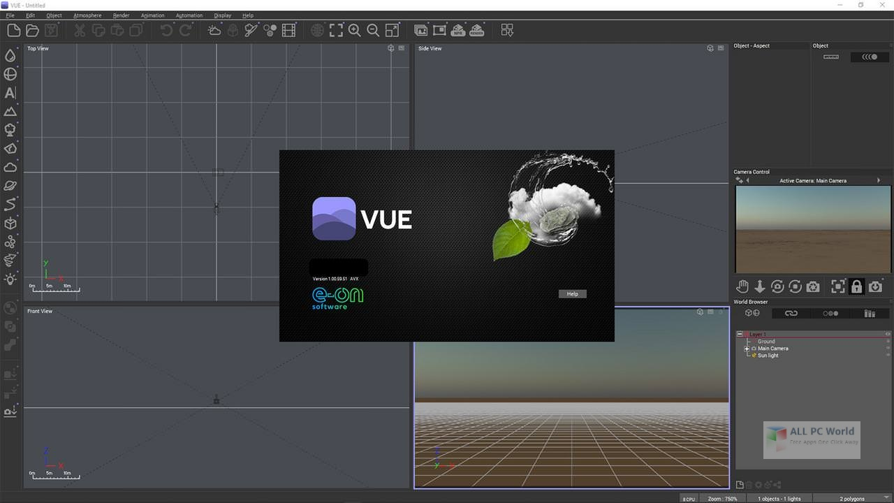 e-on Vue R4 Build 4003044 with Content Free Download
