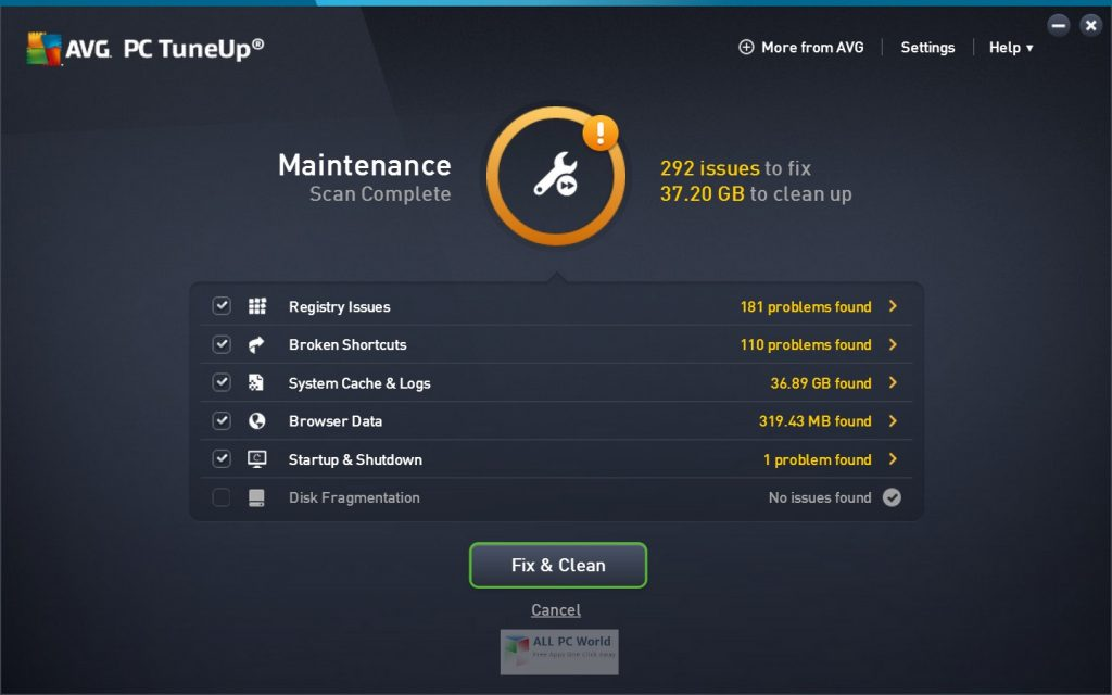AVG PC TuneUp 19.1 Download