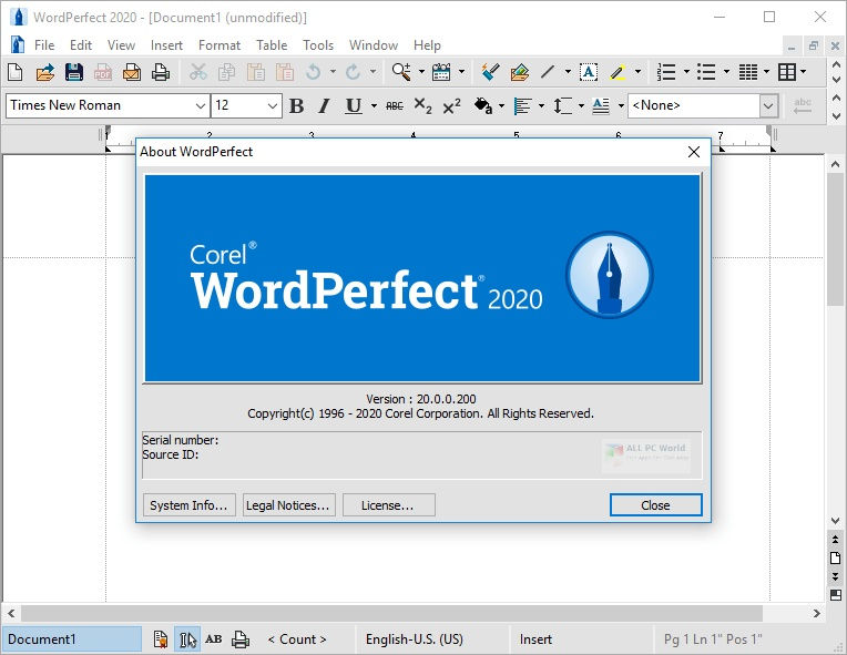 Corel WordPerfect Office 2020 v20.0