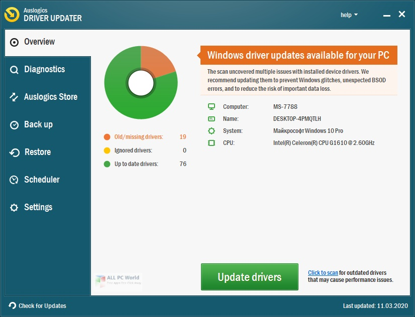 Auslogics Driver Updater 2020 v1.24 Free Download