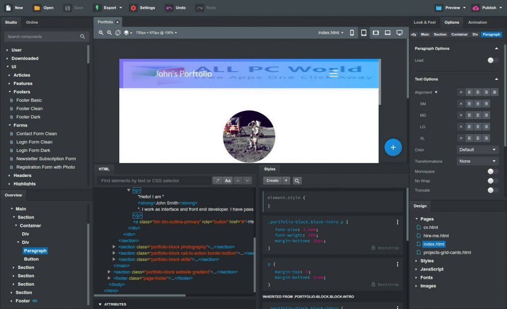 Bootstrap Studio 5.1