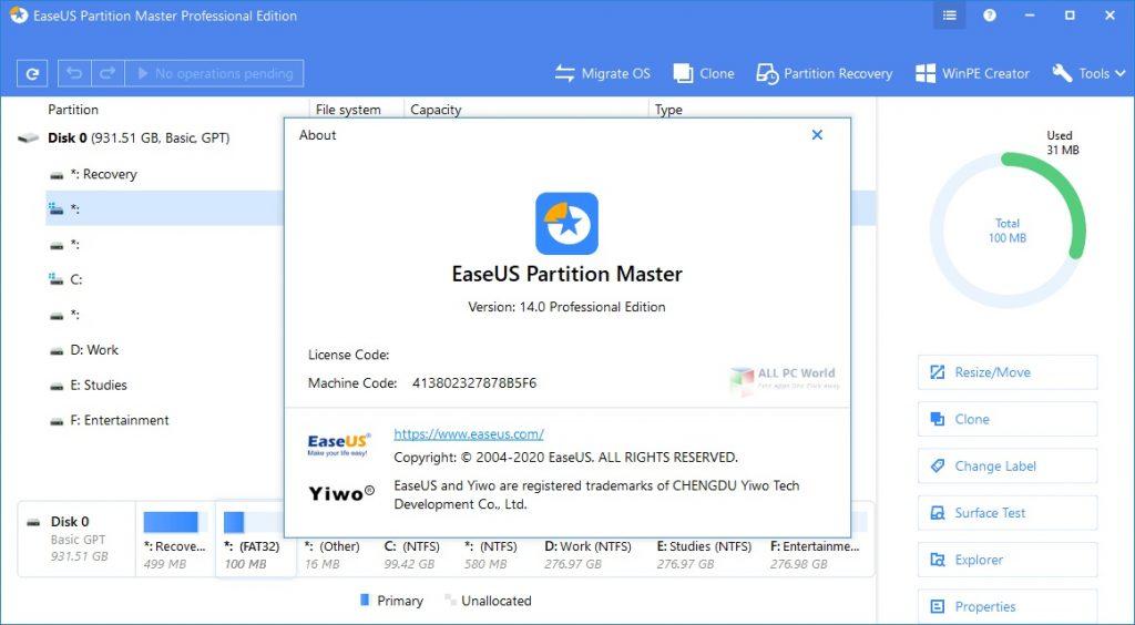 EaseUS Partition Master 2020 Download