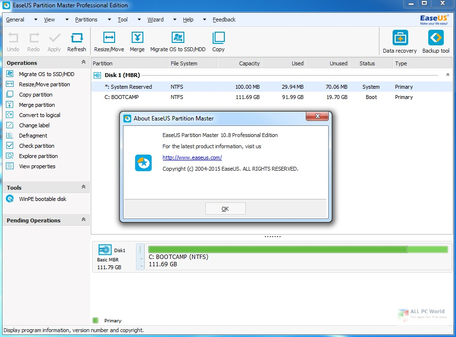 EaseUS Partition Master 2020 for WIndows