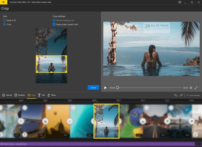Icecream Video Editor 2.1 for Windows 10