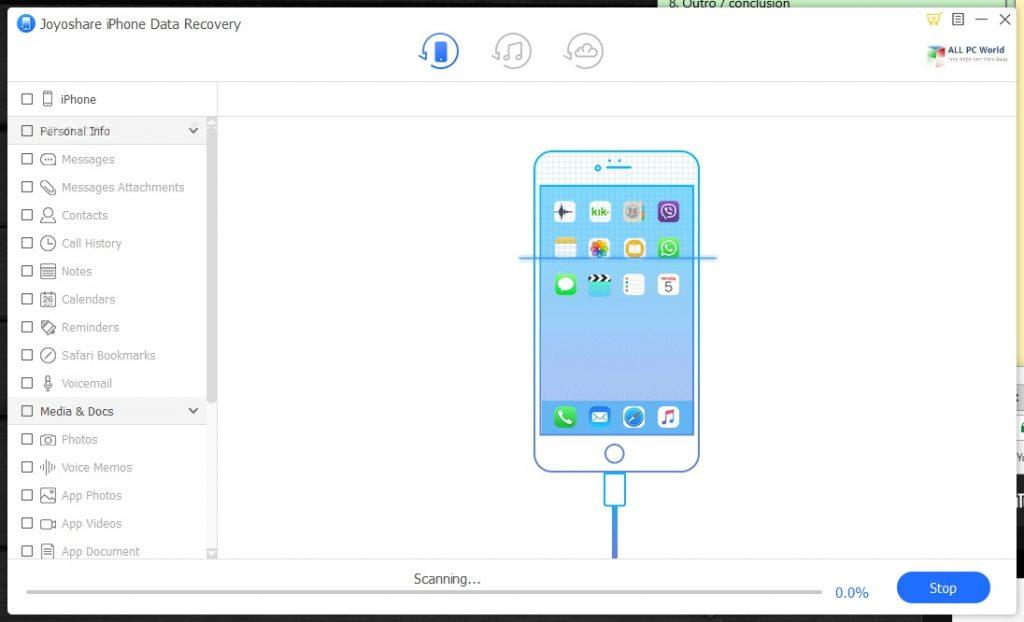 Joyoshare iPhone Data Recovery 2 Free Download