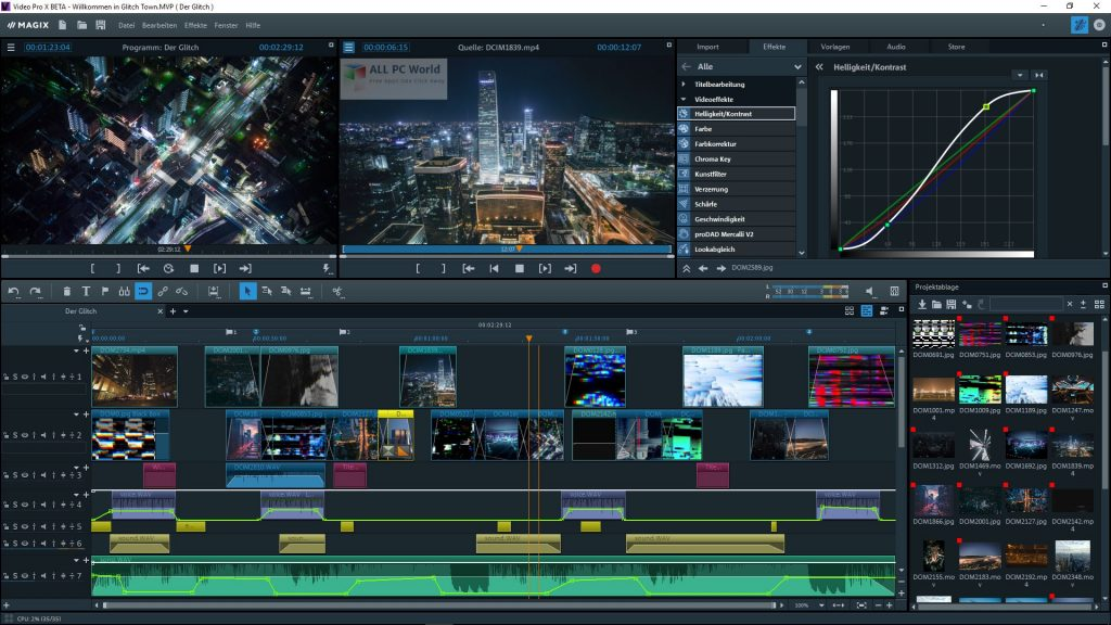MAGIX Video Pro X12 v18.0 Free Download - ALL PC World