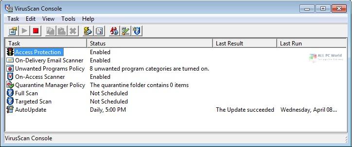 McAfee VirusScan Enterprise 8