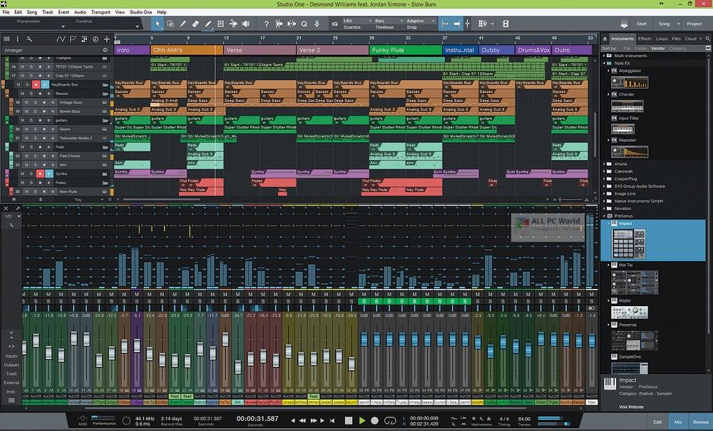 PreSonus Studio One Professional 4.6 Free Download
