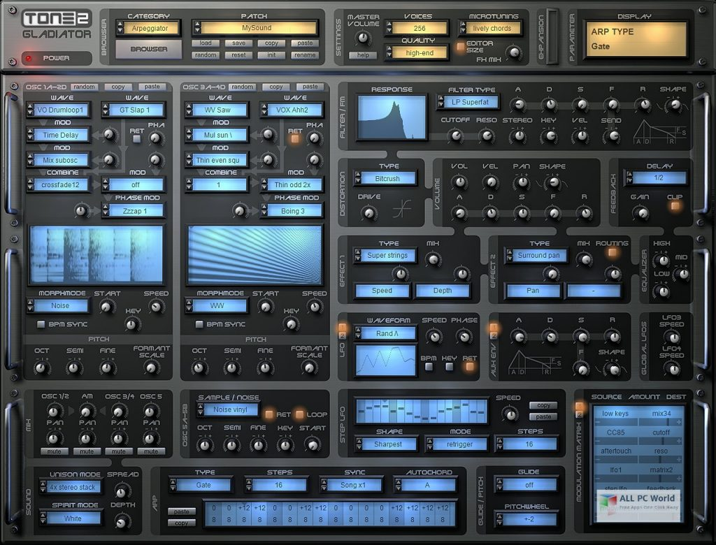 Tone2 – Gladiator 3.0 Standalone VSTi Free Download
