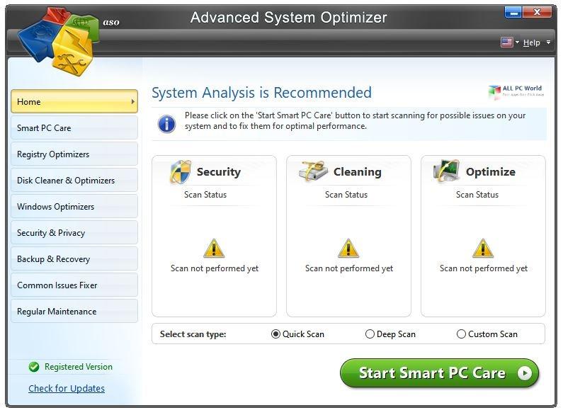 Advanced System Optimizer 2020 v3.9 Download