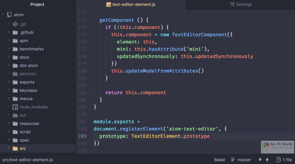 Atom Text Editor 1.48 Free Download