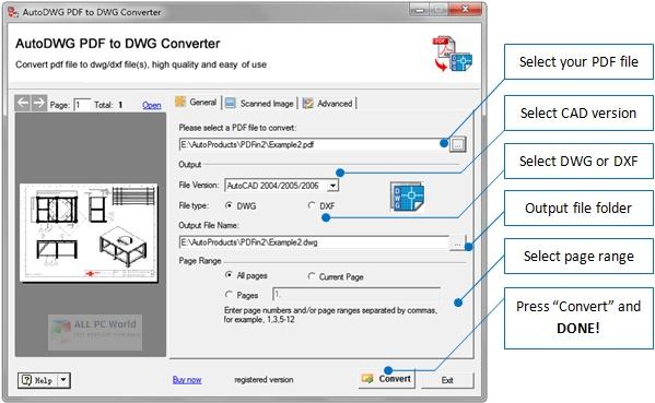 AutoDWG PDF to DWG Converter 2020