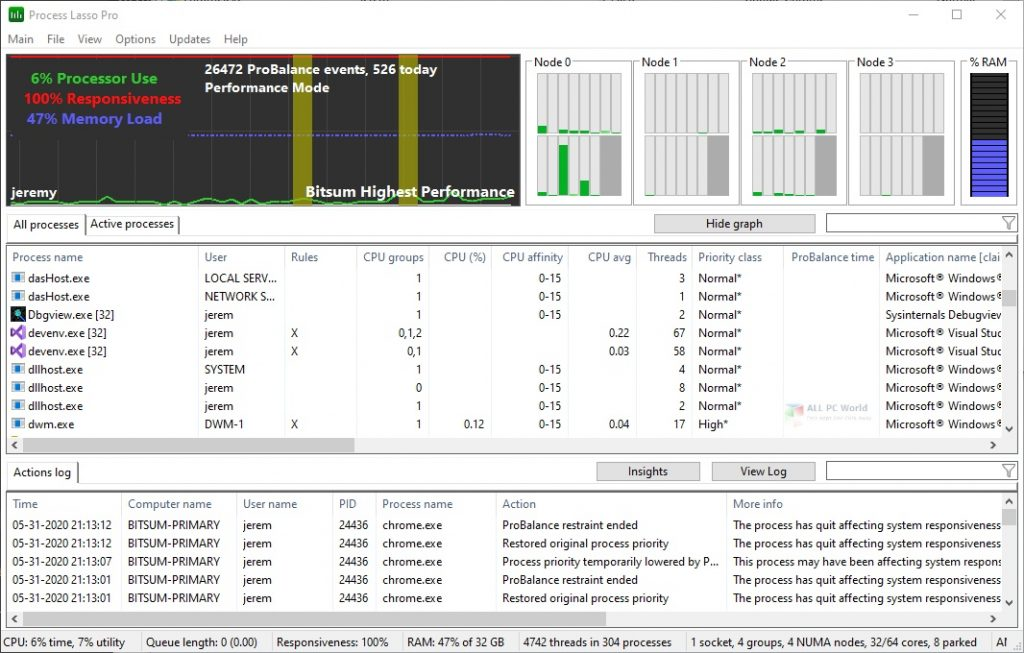 Process Lasso 10 Free Download