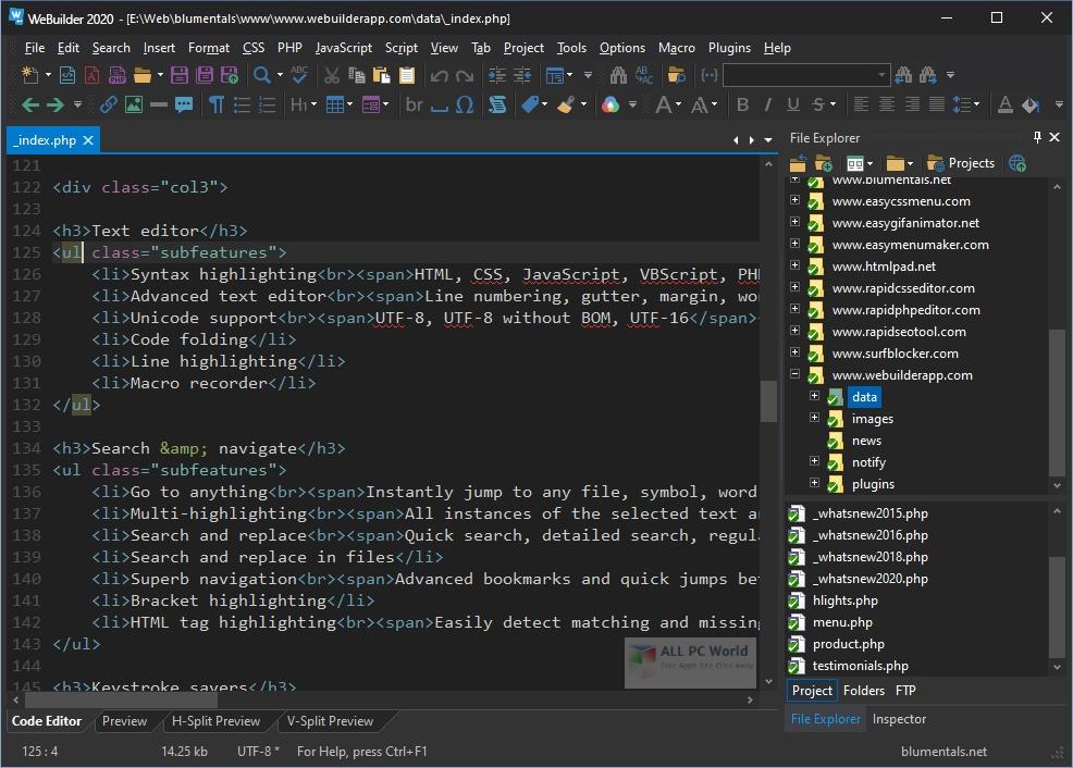 Blumentals WeBuilder 2020 v16.1 One-Click Download
