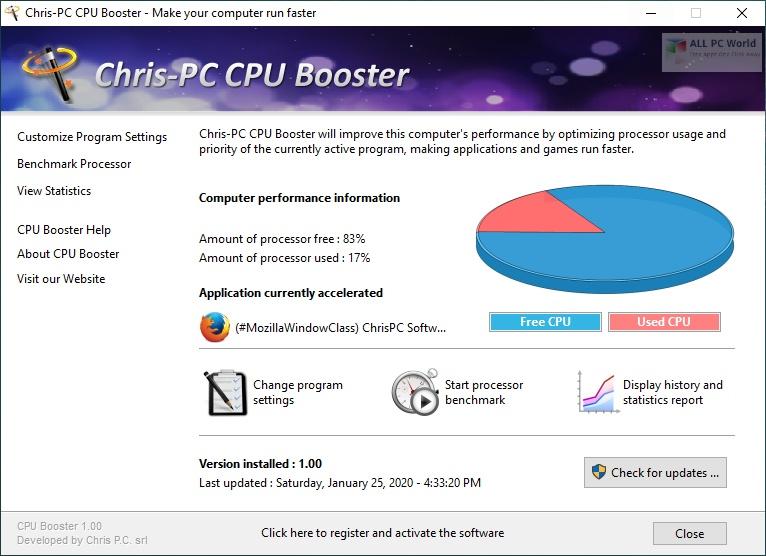 Chris-PC CPU Booster 2020 v1.06