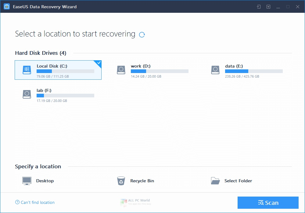 EaseUS Data Recovery Wizard Technician Edition Free Download
