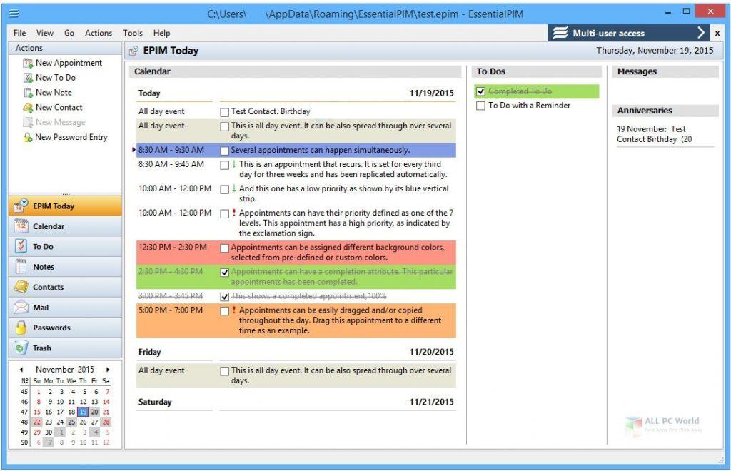EssentialPIM Pro Business 9.1 Download