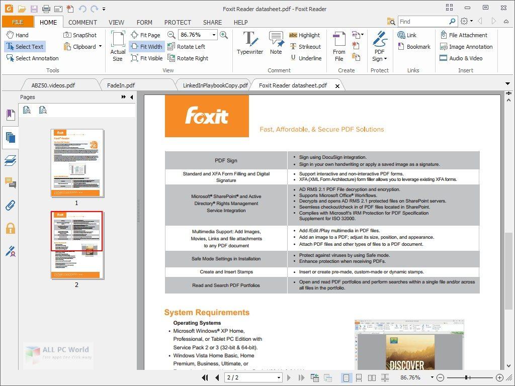Foxit PDF Reader 10.1