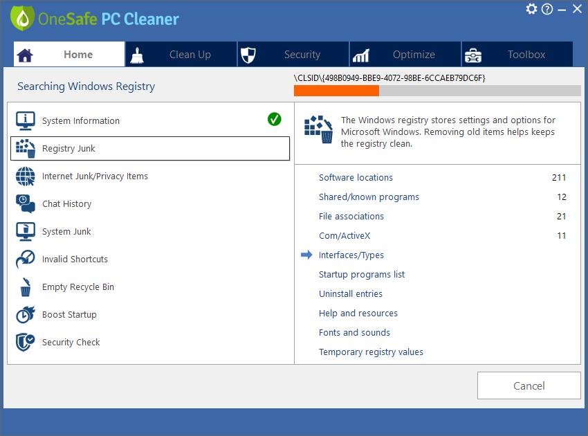 OneSafe PC Cleaner Pro 2020 v7.2