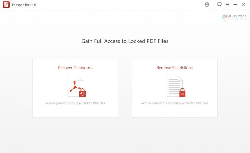 Passper for PDF 2020 v3.6 Download