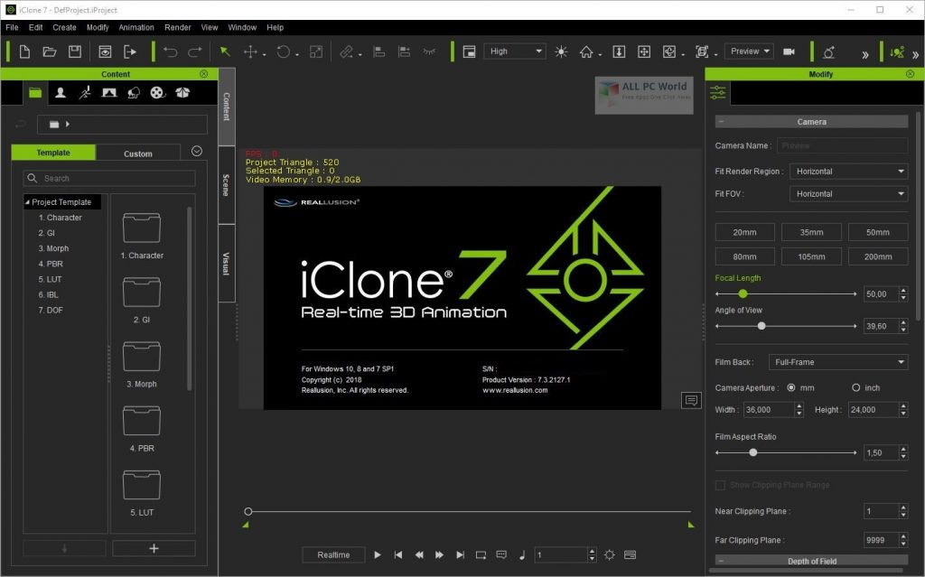 Reallusion iClone Pro 2020 v7.8 Download