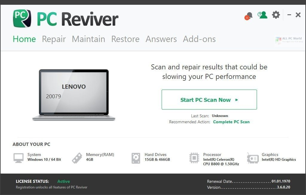 ReviverSoft PC Reviver 3.12