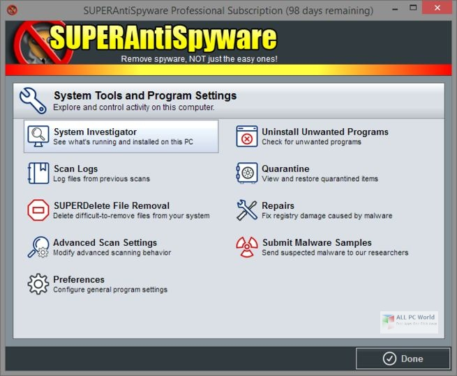 SUPERAntiSpyware Professional X Edition v10.0 Free