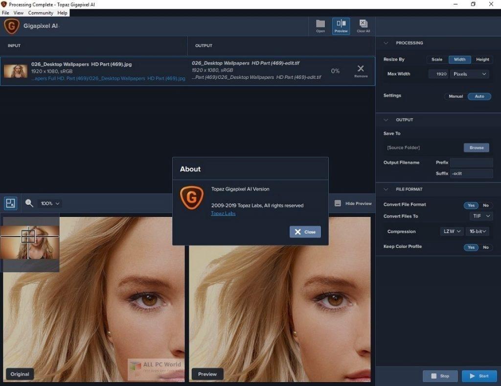 Topaz Gigapixel AI 5.0.3 Free Download