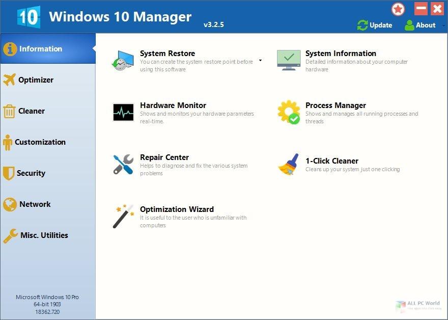 Windows 10 Manager 2020 v3.2 Download
