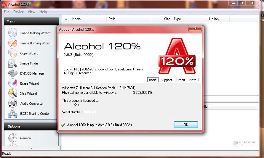 Alcohol 120% 2.1