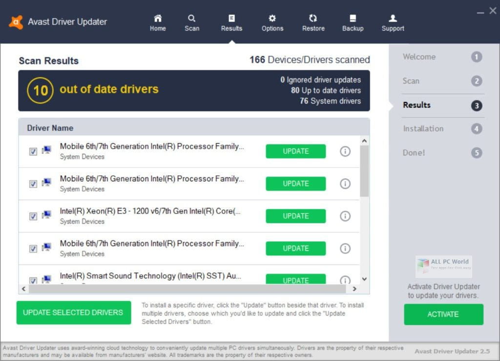 Avast Driver Updater 2.5 One-Click Download