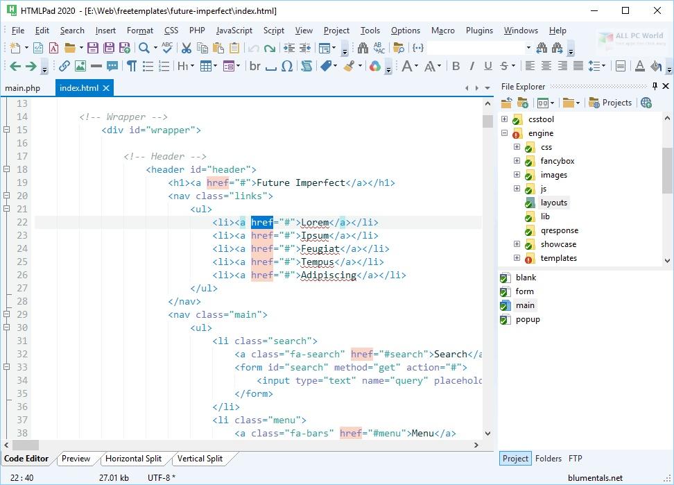 Blumentals HTMLPad 2020