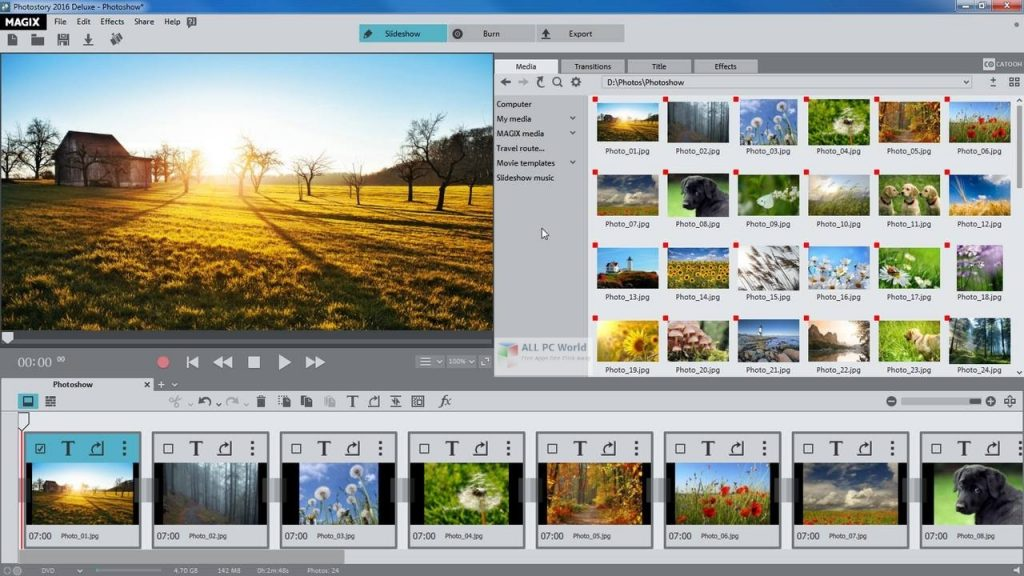 MAGIX Photostory 2022 DELUXE v21 Free Download