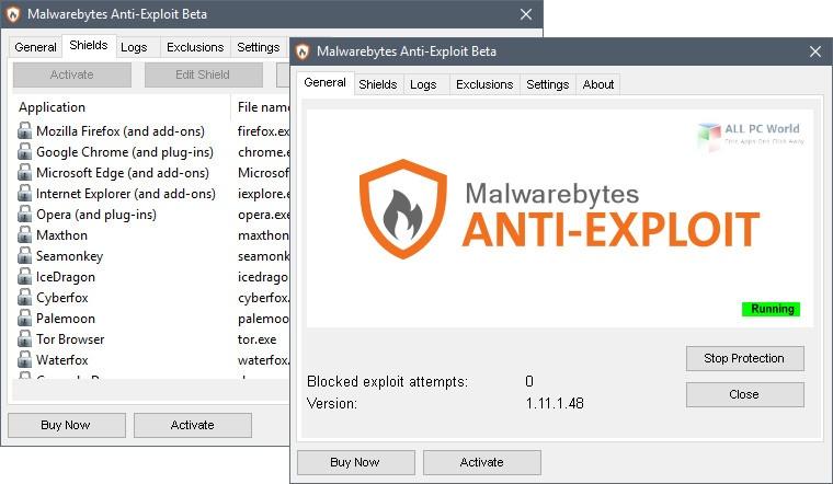 Malwarebytes Anti-Exploit 1.13