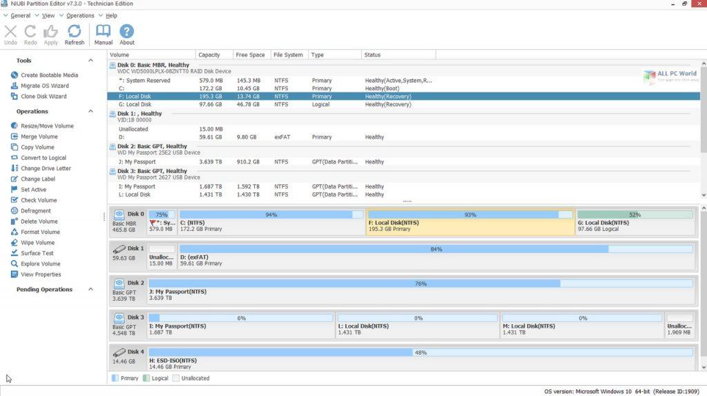 NIUBI Partition Editor Technician Edition 7.4 Full Version