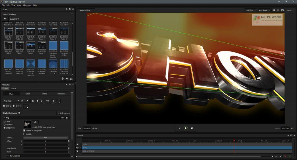 NewBlueFX Titler Pro 7 Ultimate 7.2 Free Download