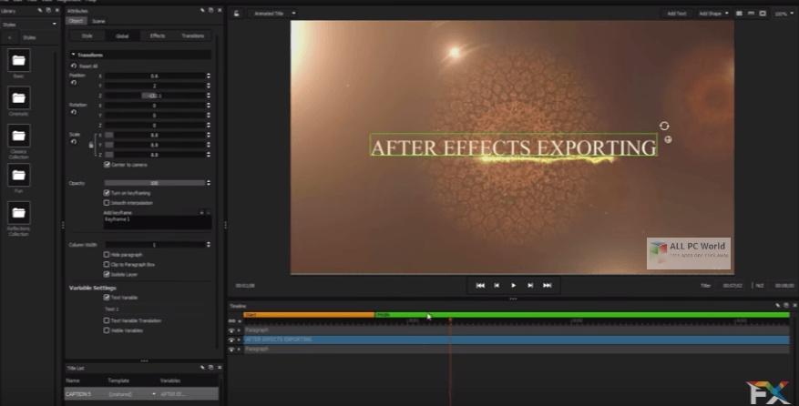 NewBlueFX Titler Pro 7 Ultimate 7.2 Full Version Download