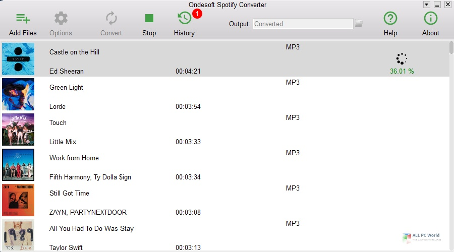 Ondesoft Spotify Converter 3.0 One-Click Download