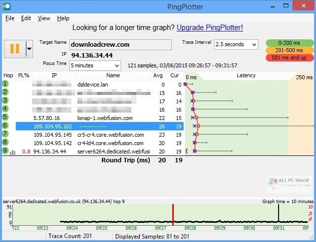 PingPlotter Pro 5.18 Free Download