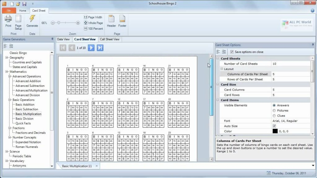 Schoolhouse Bingo Game Maker 2020 Free Download