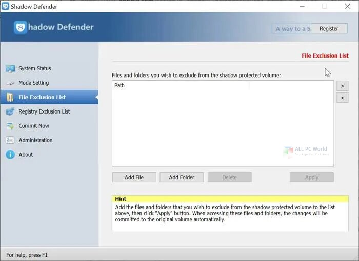 Shadow Defender 2020 Download