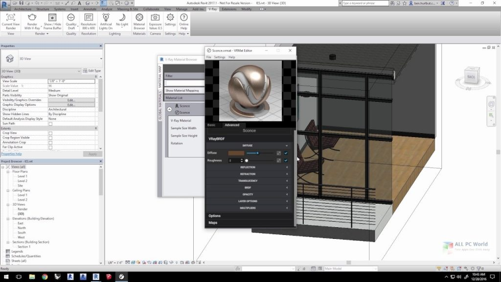 V-Ray Next 4.1 for Revit 2015-2021 One-Click Download