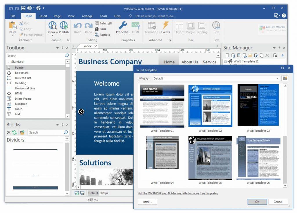 WYSIWYG Web Builder 15.4.5 Full Version