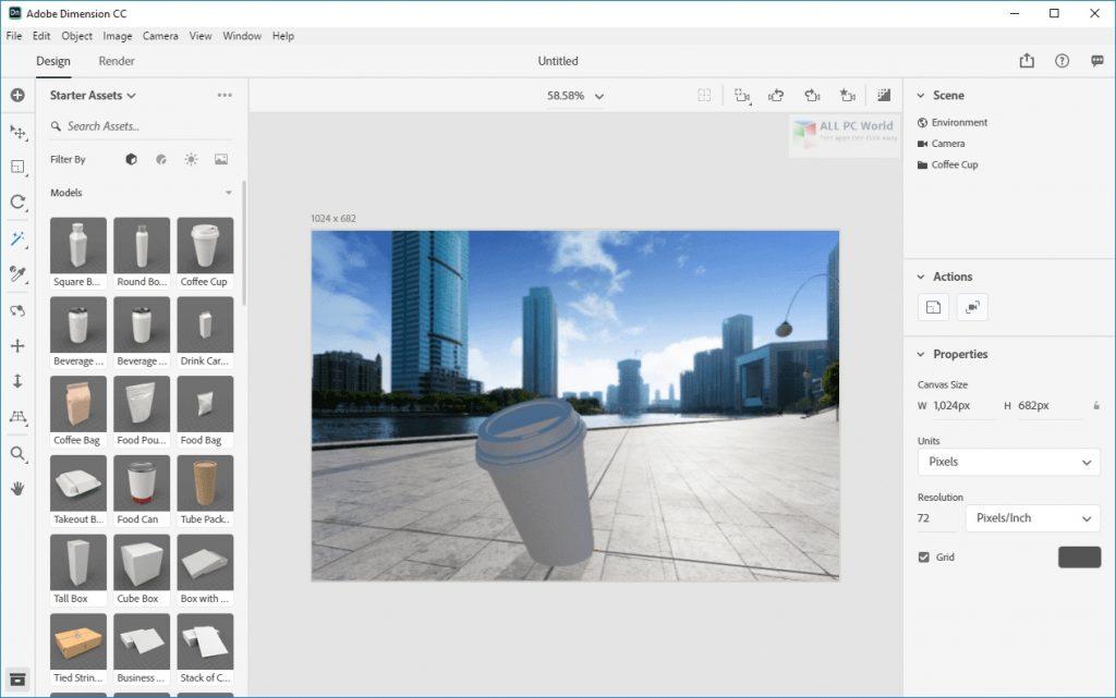 Adobe Dimension CC 2020 v3.3 Direct Download Link