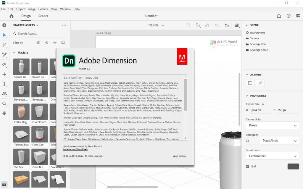 Adobe Dimension CC 2020 v3.3 Full Version