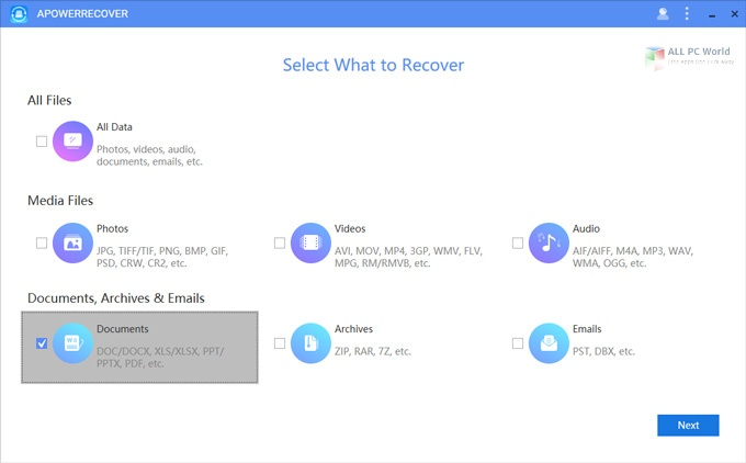 ApowerRecover Professional 2020 v13.5 Free Download