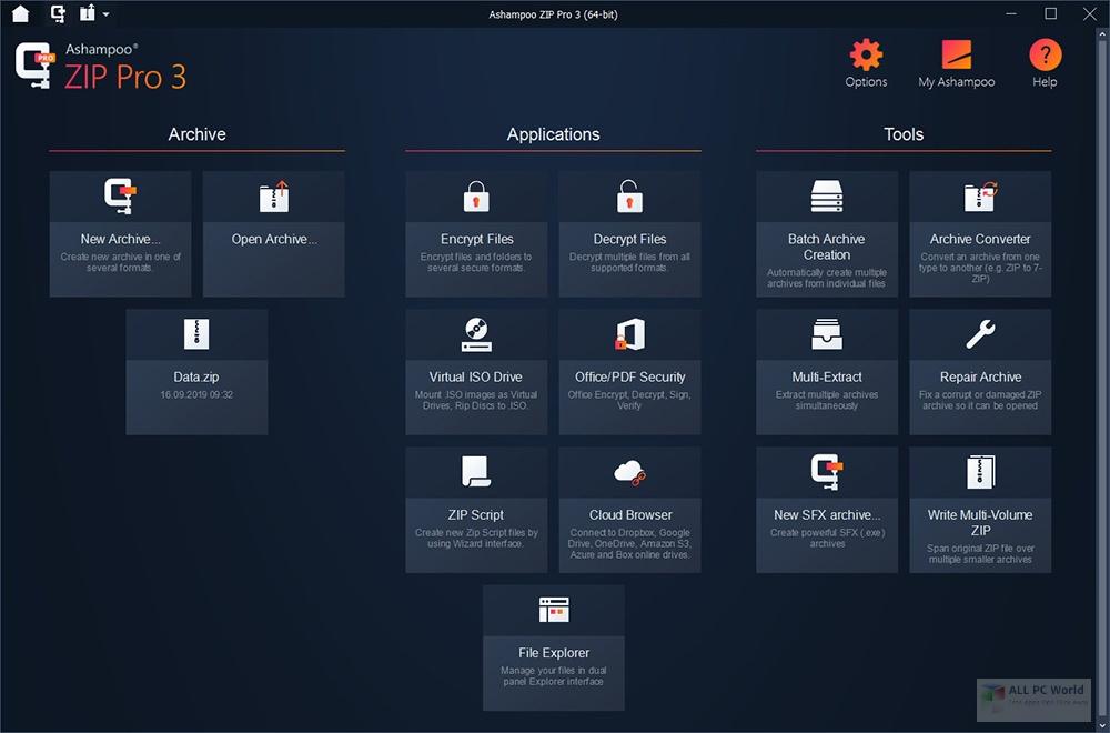 Ashampoo ZIP Pro 2020 v3.0 Direct Download Link