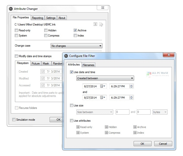 Attribute Changer 10.0 Free Download
