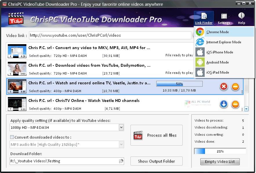 ChrisPC VideoTube Downloader Pro 12.09 Direct Download Link